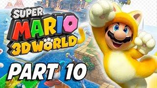 Super Mario 3D World Walkthrough Part 10 - Bullet Bill Express (100% Green Stars & Stamps)