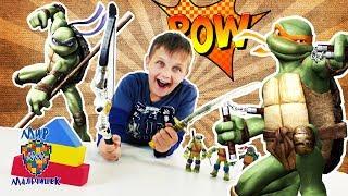 - ЧЕРЕПАШКИ НИНДЗЯ и ЕГОР Набор для ниндзя Супер тренировка Распаковка игрушек Видео для детей