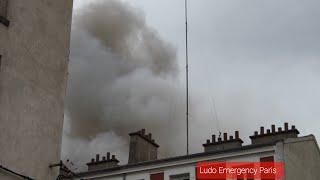 Pompiers de Paris incendie Majeur Aubervilliers Paris Fire Dept Responding and on scene Heavy Fire
