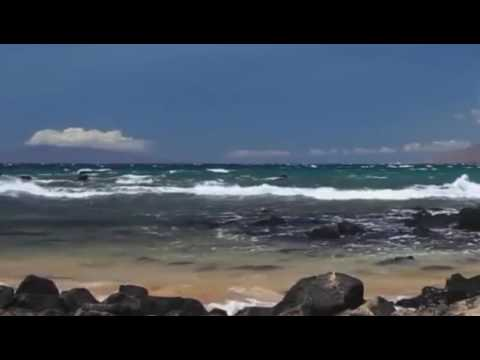 Beach Waves Rocks Mountains