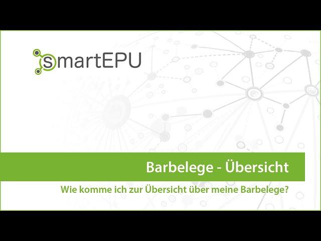 smartEPU: Barbelege Übersicht