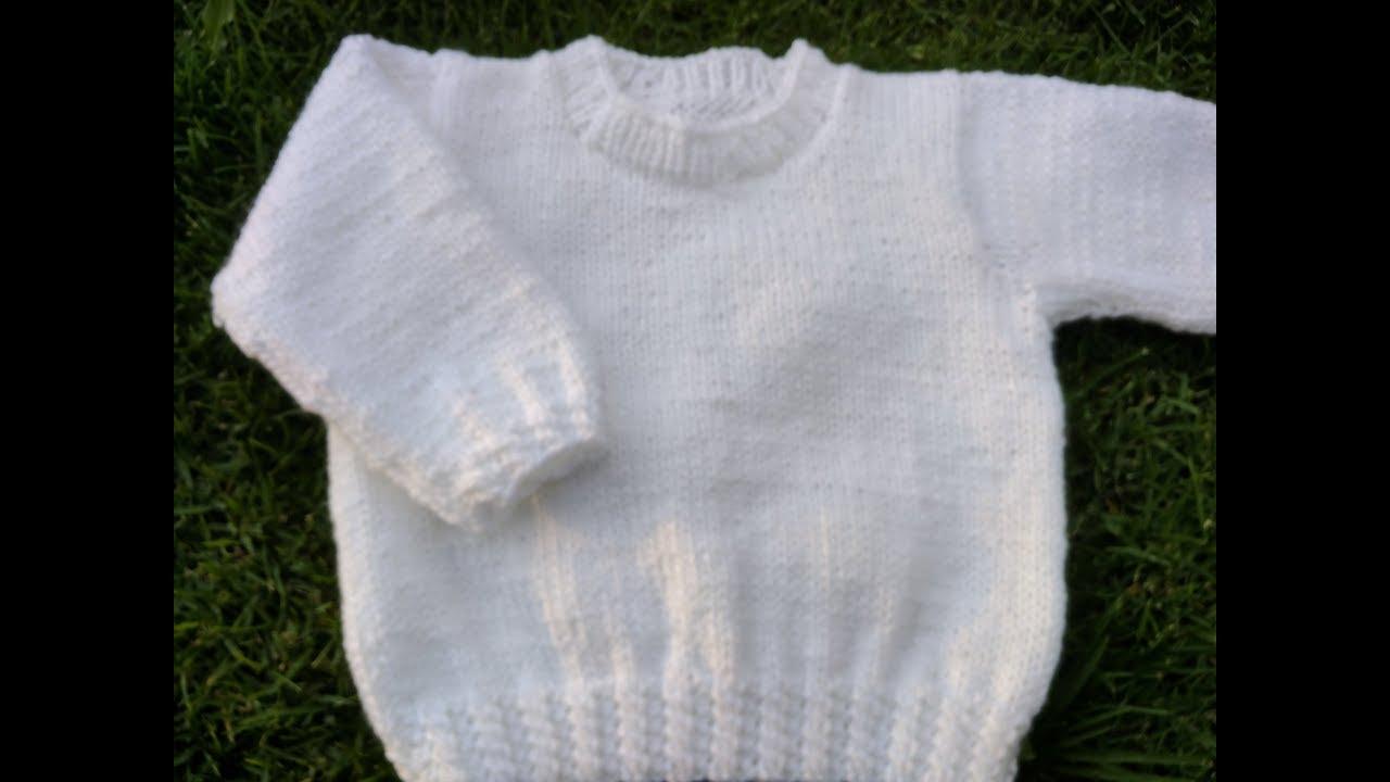 Teje jersey o suéter básico en dos agujas - YouTube