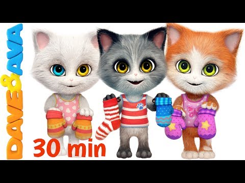 download 😽 Three Little Kittens in New Nursery Rhymes Collection | Kids Songs from Dave and Ava 😽