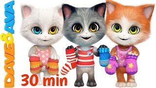 Download 😽 Three Little Kittens in New Nursery Rhymes Collection | Kids Songs from Dave and Ava 😽 Mp3 and Videos