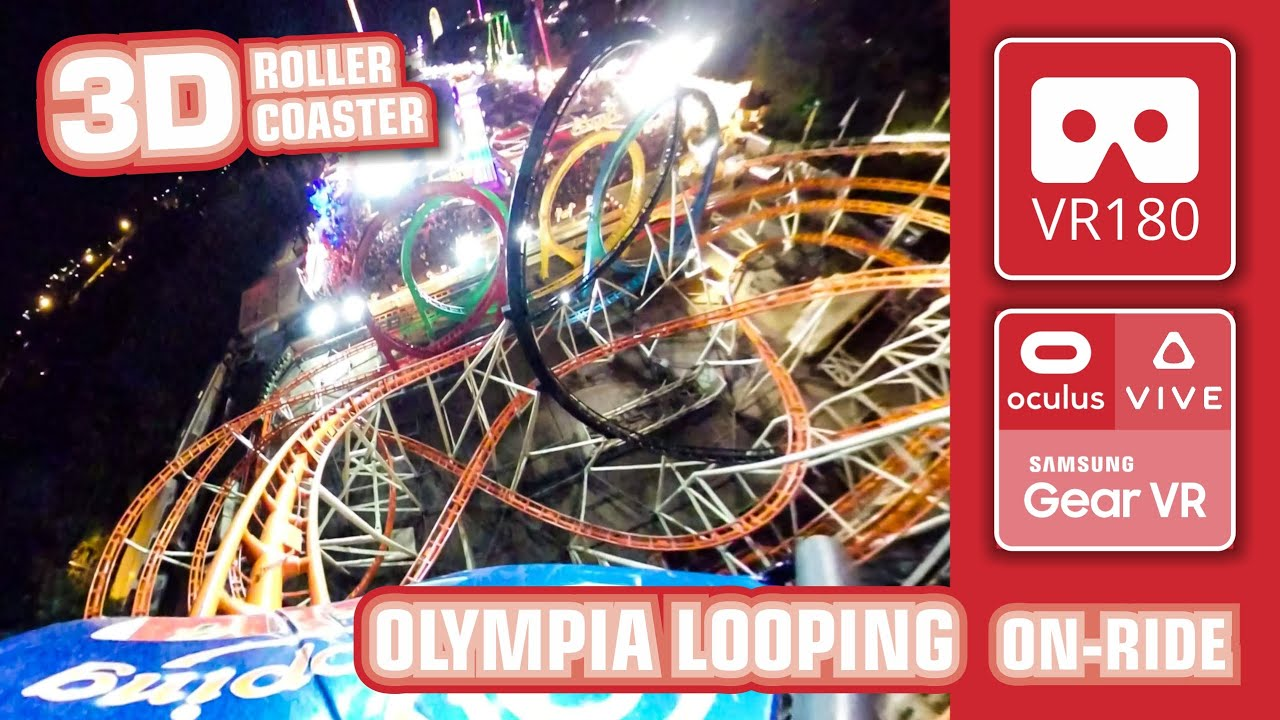 VR180 extreme Looping Roller Coaster OLYMPIA LOOPING VR 3D Experience | 360 front row POV Fairground