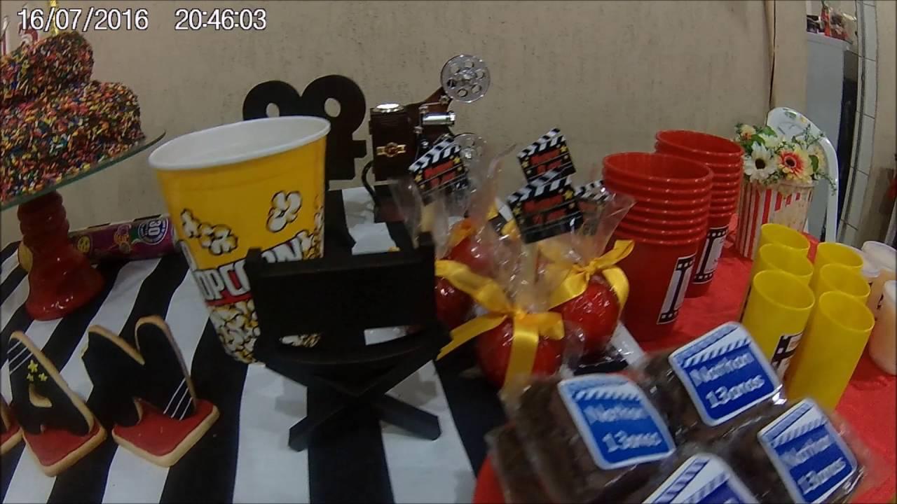 Suficiente Festa tema decoração Cinema - YouTube SB61