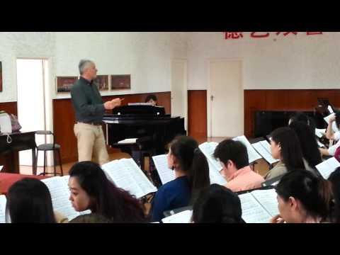 "Side 1 Shanghai Opera House - Giuseppe Verdi's ""ATTILA"" Choir rehersals"
