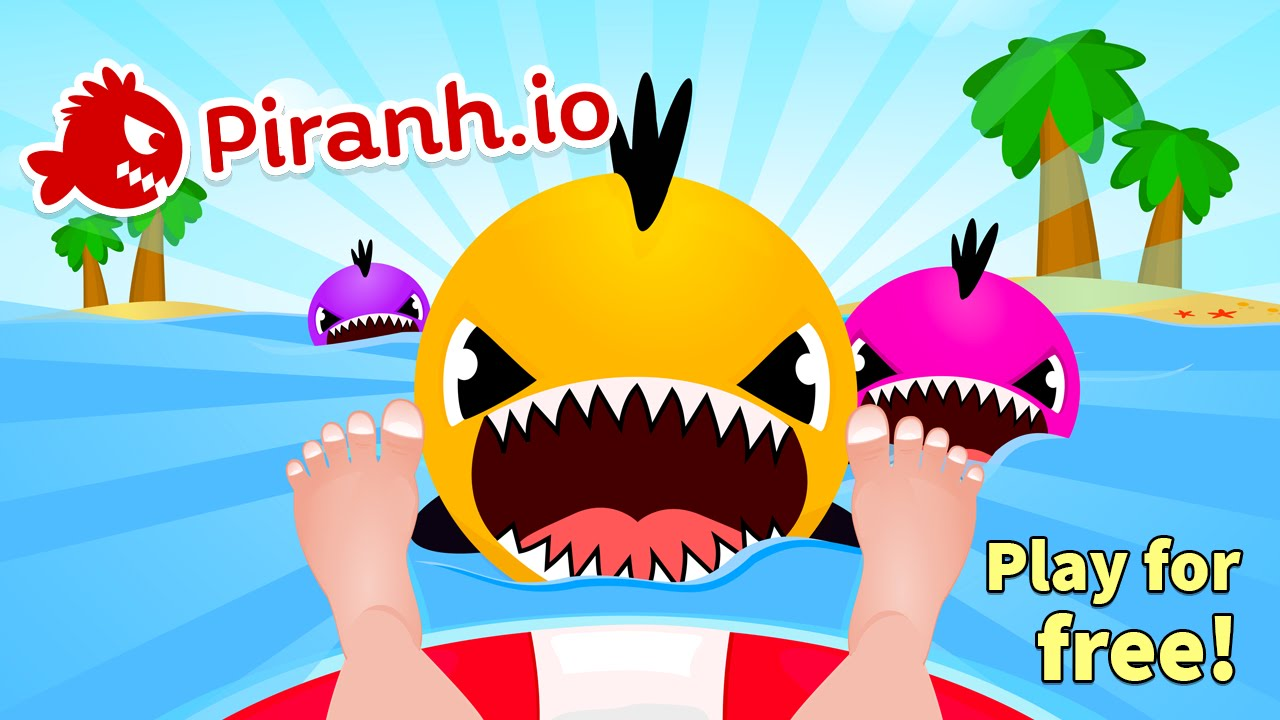 Piranh io juego de pira as me como los humanos youtube for Fish io games