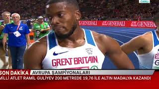 Ramil Guliyev Avrupa Şampiyonu - 09-08-2018