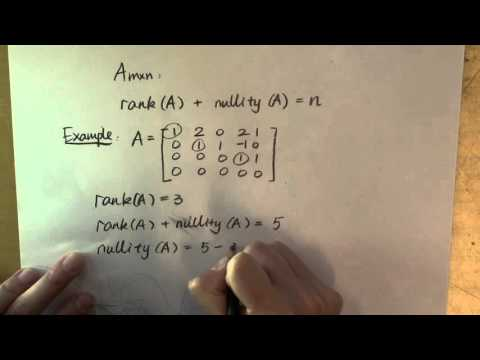 The rank nullity relation and examples