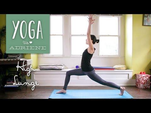 High Lunge Yoga Pose - Yoga With Adriene