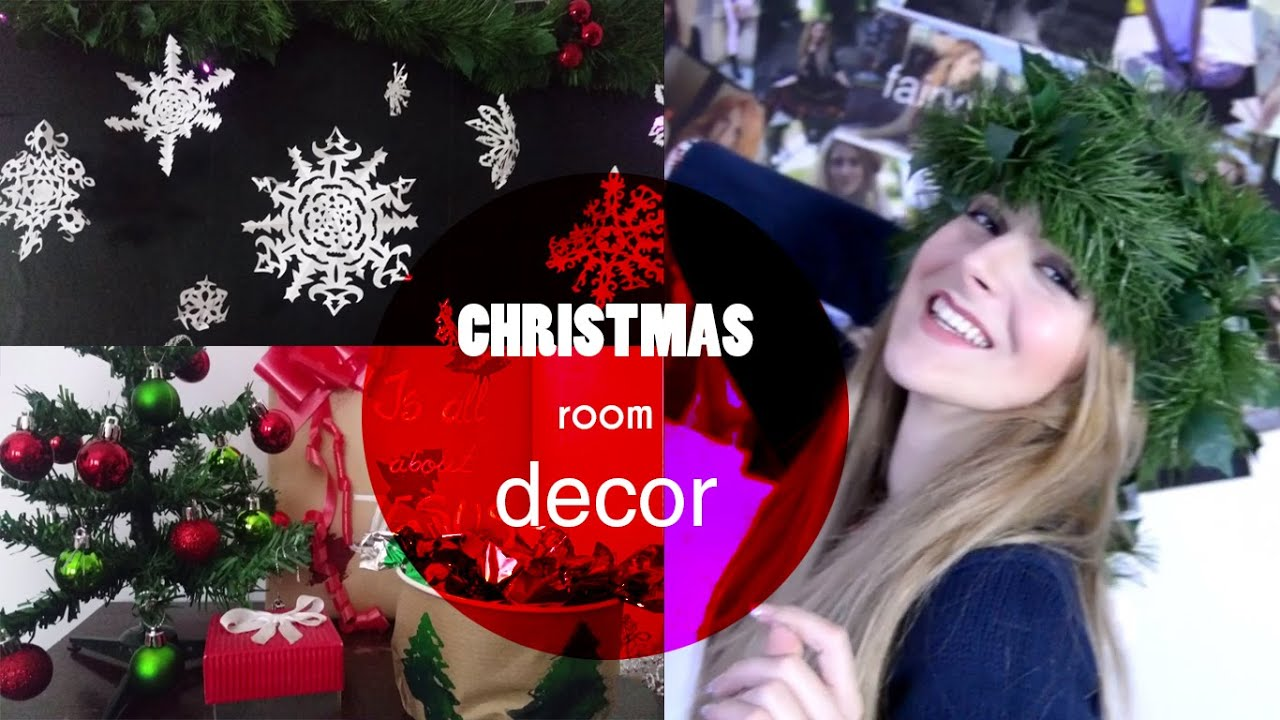 Christmas Room Decor Decor De Craciun Pt Camera Ta Diy Youtube
