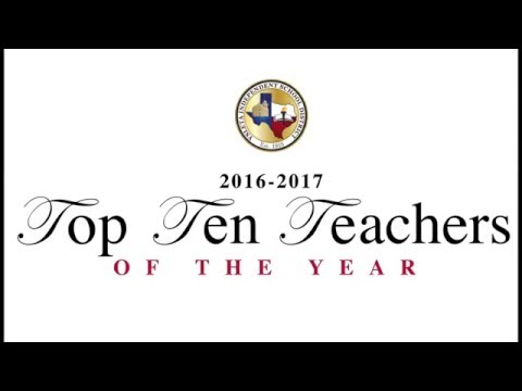 2016 - 2017  Top Ten Teacher of the Year Ceremony