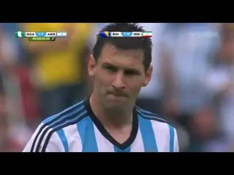 Messi goal against Nigeria World Cup 2014 World Brazil