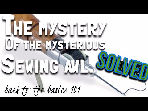 Sew awl instructional video.