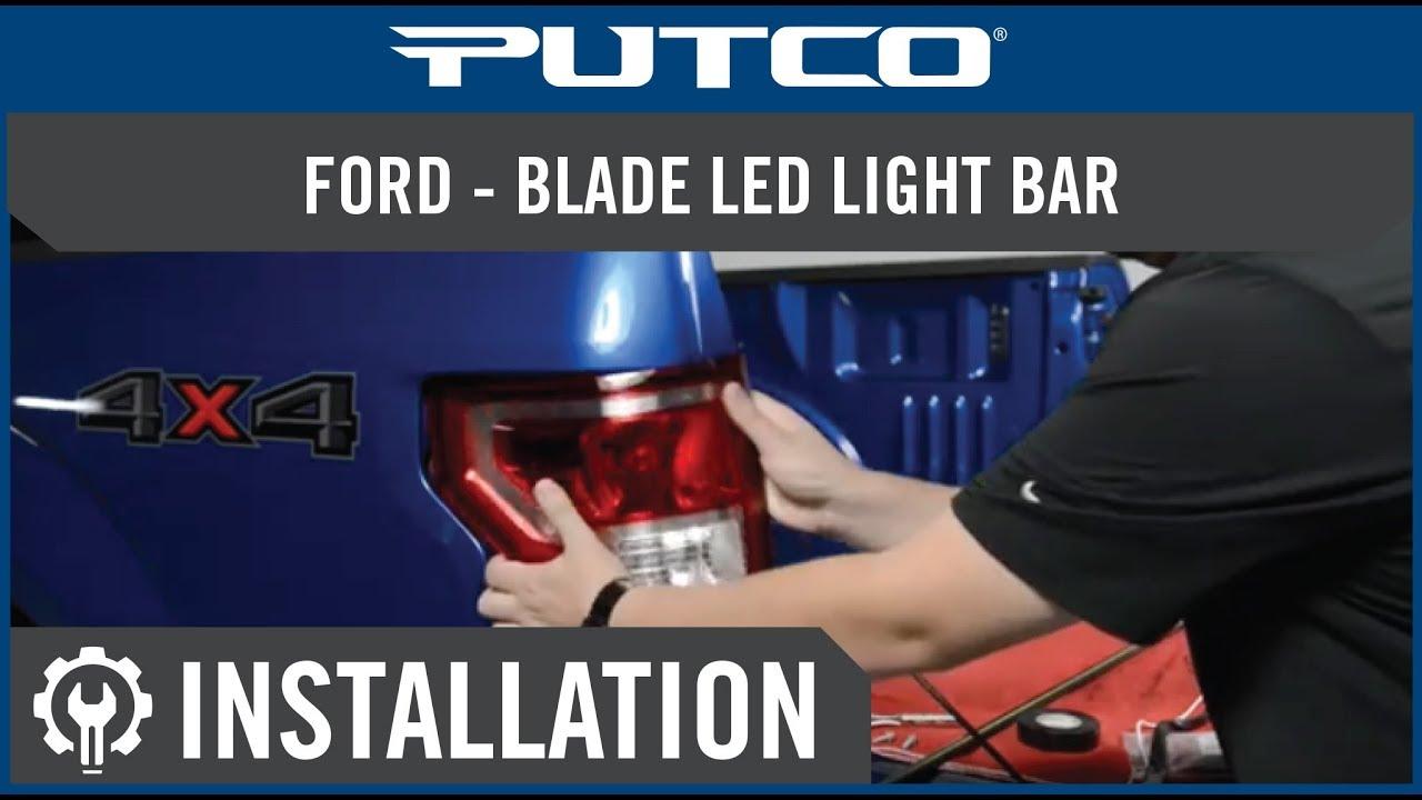 Blade LED Tailgate light bar installation on Ford Trucks