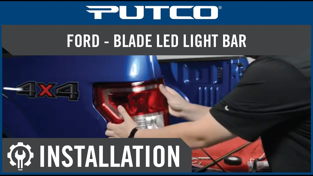 Wiring Light Bar Diagram Blade Led Tailgate Light Bar Installation On Ford Trucks