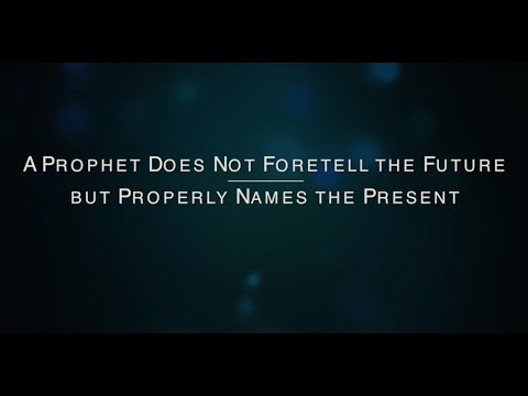 A Prophet Does Not Foretell the Future
