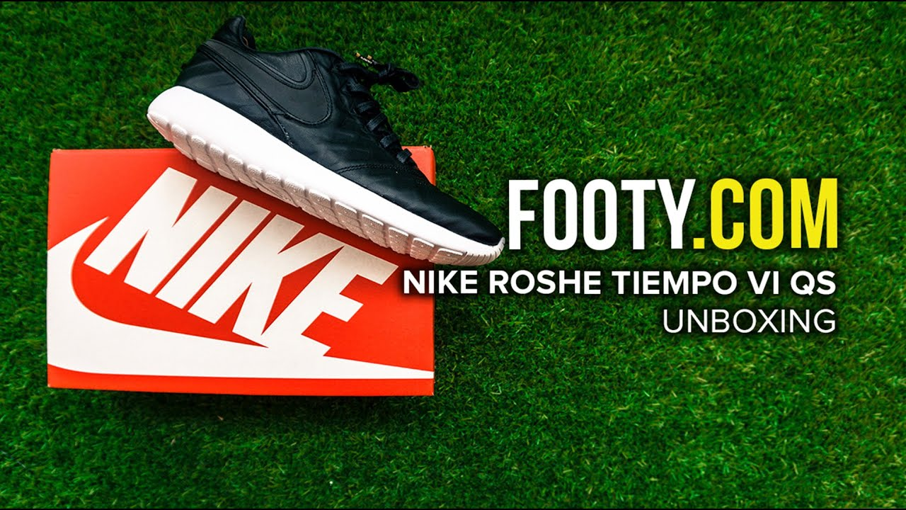 1d2762b69ada Nike Roshe Tiempo VI QS Unboxing - FOOTY.COM - YouTube