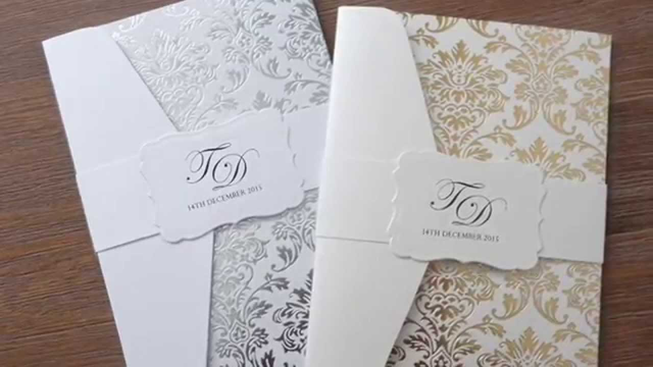 Wedding invitations diy trailer youtube junglespirit Images