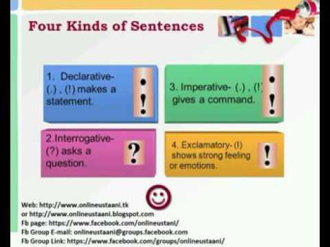 Kinds of Sentences in Urdu/Hindi - YouTube