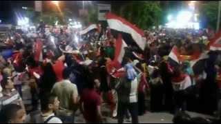 أحتفالات تاريخية والالاف فى شوارع الاسماعيلية ليلة أفتتاح قناة السويس الجديدة