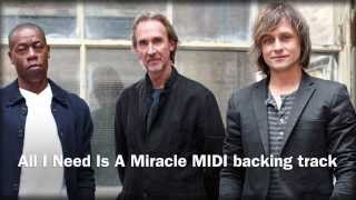 All I Need Is A Miracle (in the style of Mike & The Mechanics) Backing Track