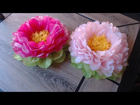 How to make tissue paper flower- super easy method/ Christmas decoration