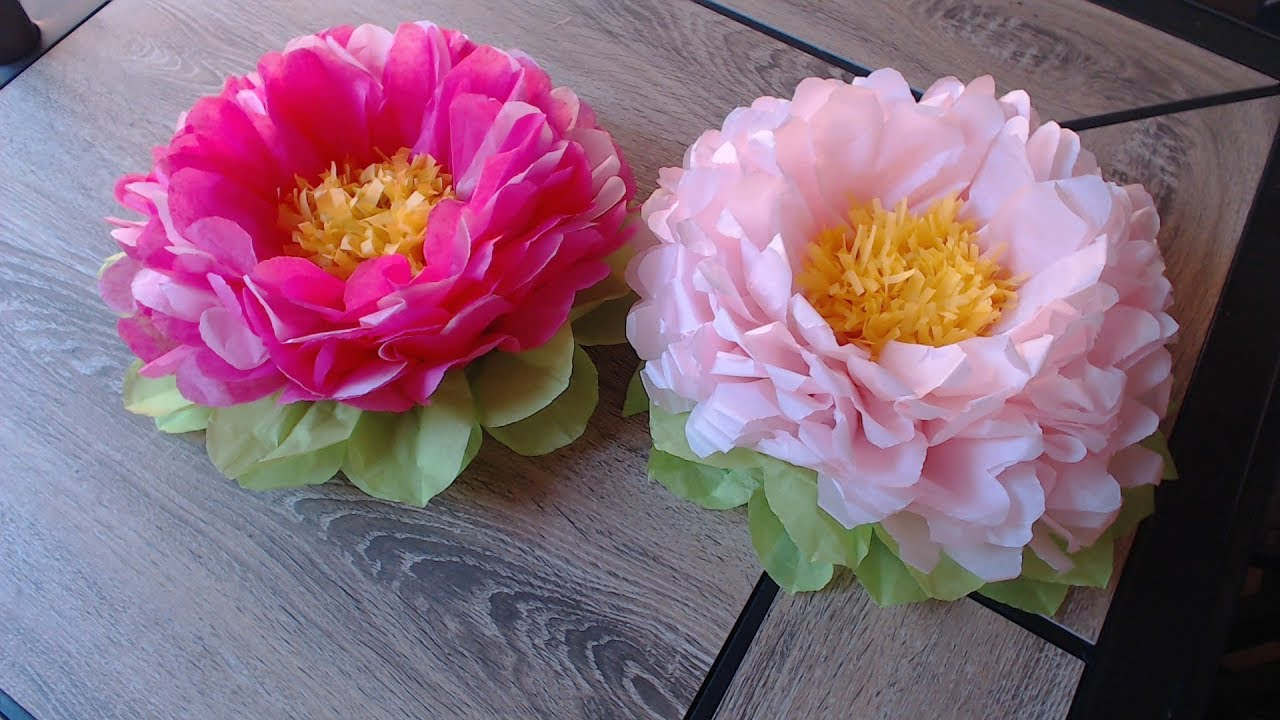 simple flower making with tissue paper