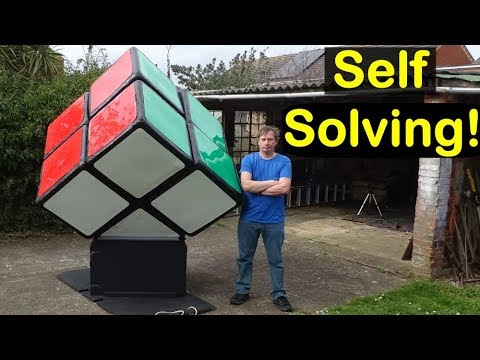 Self Solving Giant 2x2x2 Rubik's Cube puzzle by Tony Fisher