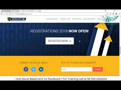 100% Off Promotional Code - MODELOFF 2018 REGISTRATIONS NOW