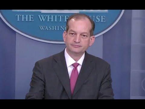 Labor Secretary Acosta On Trump Apprenticeship Initiative - Full Q And A