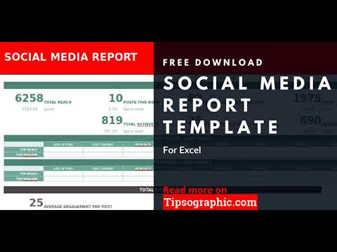social media report dashboard template for excel free download