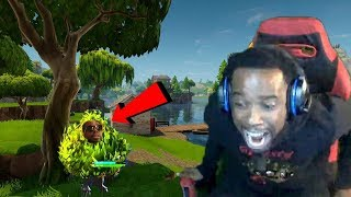 How To Win Fortnite w/ Bush & The Worst Fortnite Player LosPollos! Fortnite Funny Moments and Rages!