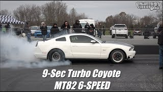 Big Single Turbo Coyote Goes 9s With Stock Motor & MT82