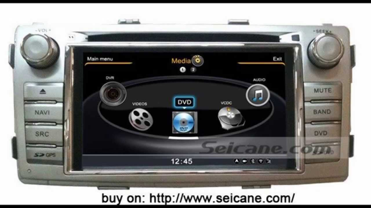 Radio removal for toyota hilux auto a v in dash dvd player 3g usb bluetooth 3 zone pop tv youtube