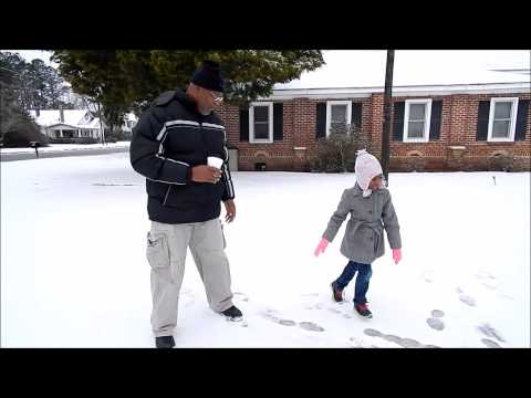 Grandfather Shares Kids' First Snow in Elloree, SC