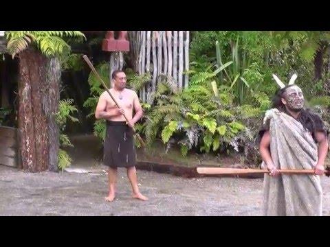 Powhiri - Welcome ceremony at Tamaki Maori Village, Rotorua, New Zealand