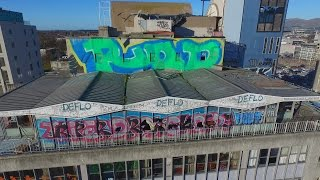 Christchurch Skyline Graffiti/Tagging - A Drone