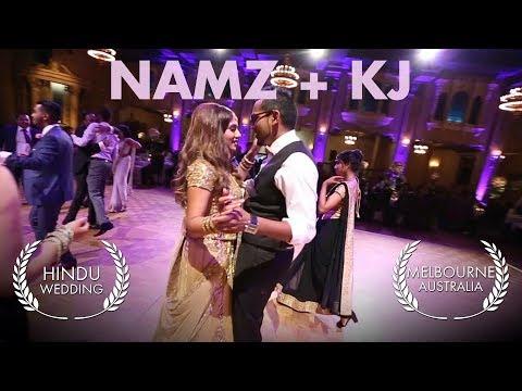 Hindu wedding video Melbourne KJ + Namz at the Plaza Ballroom in Regent Theatre