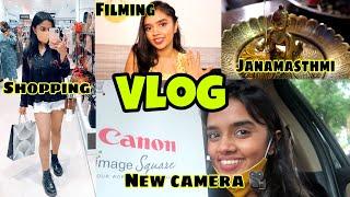 Getting my New Vlogging camera + Janamasthmi Vlog | thebrowndaughter