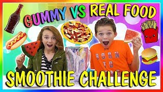 GUMMY VS REAL FOOD SMOOTHIE😝| We Are The Davises