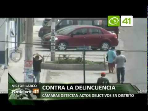 Cámaras de seguridad de Victor Larco detectan actos delictivos en el distrito - Trujillo