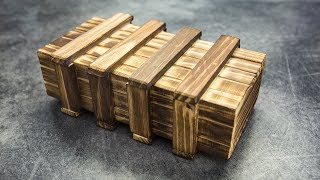 Wooden Secret Magic Gift box with hidden compartments
