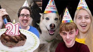 MY DOG'S 21st BIRTHDAY!!! (CRAZY PARTY)