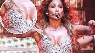 Jennifer Lopez Nip Slip on Stage in Italy