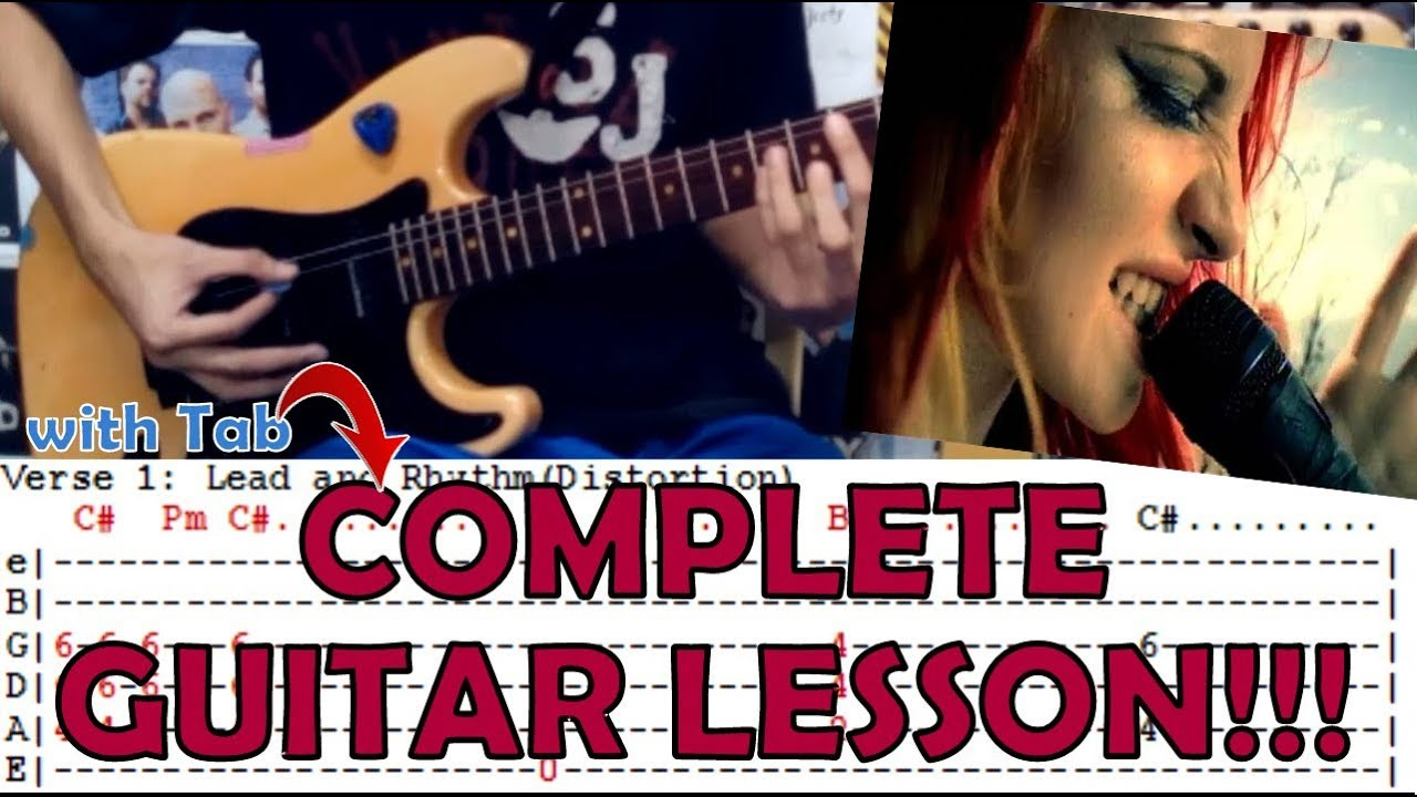 Crushcrushcrush Paramorecomplete Guitar Lessoncoverwith Chords