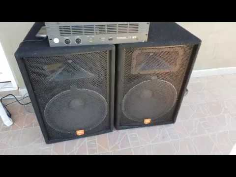 Jbl Jrx115 2x500w Dynacord S900 Youtube