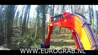 Eurograb aanbouwdelen grijpers,rotators en boomknippers