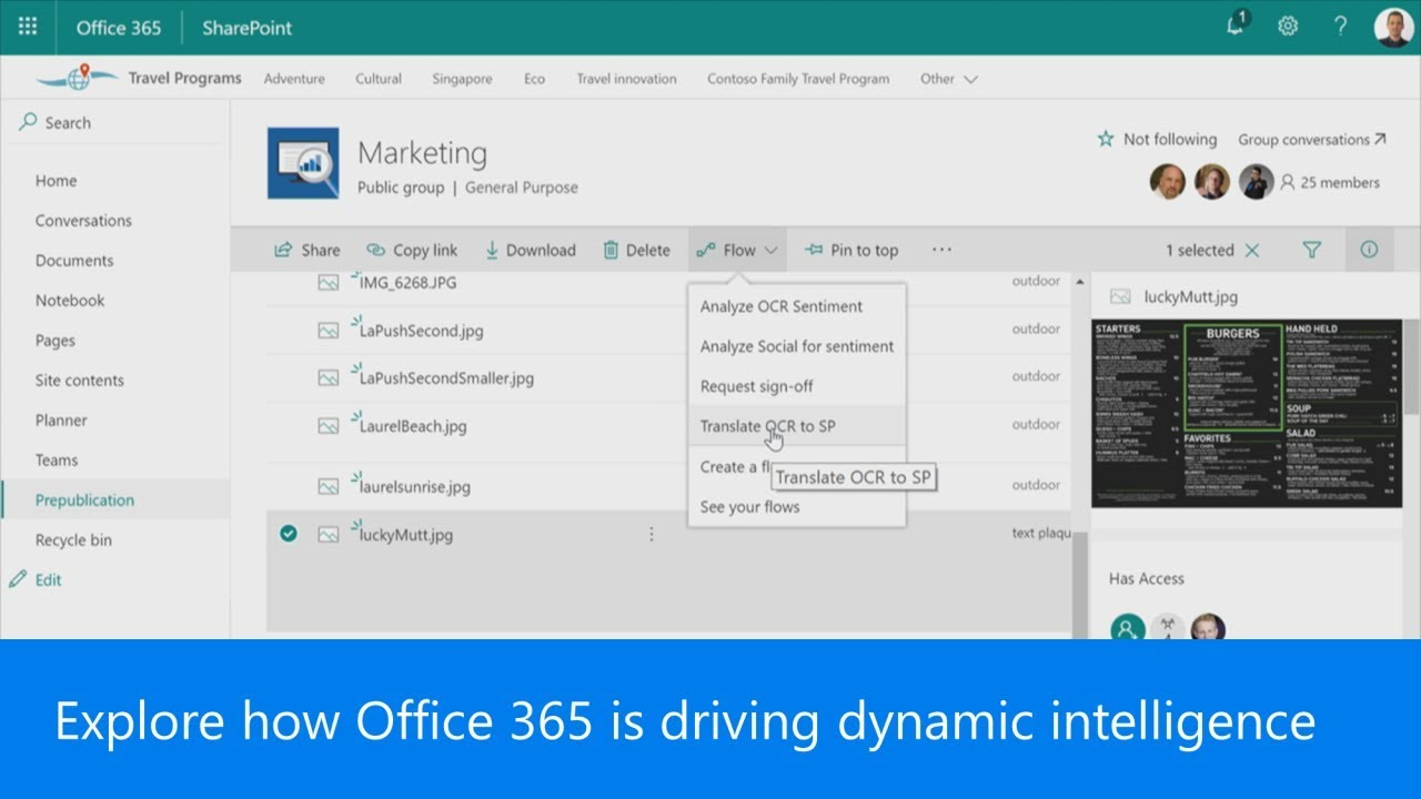 Explore how Office 365 is driving dynamic intelligence